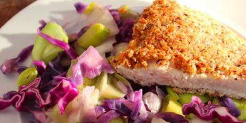 Power-Gemüse mit gesundem Knusper-Putenschnitzel